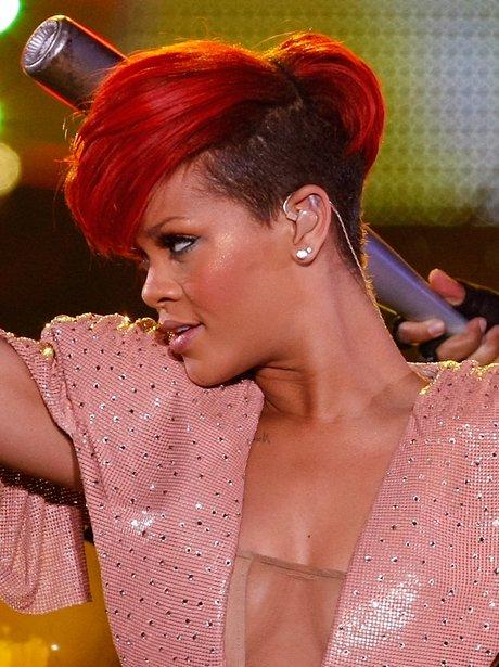 Rihanna on stage