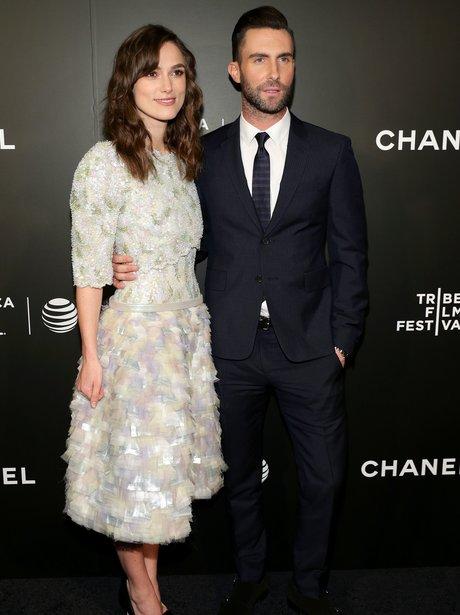 Adam Levine and Kiera Knightely