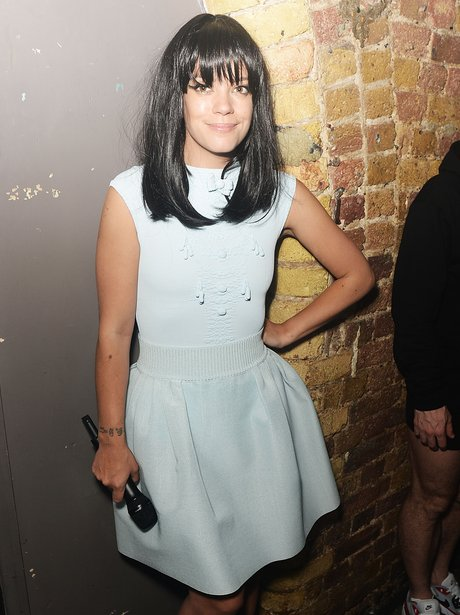 Lily Allen backstage at G-A-Y