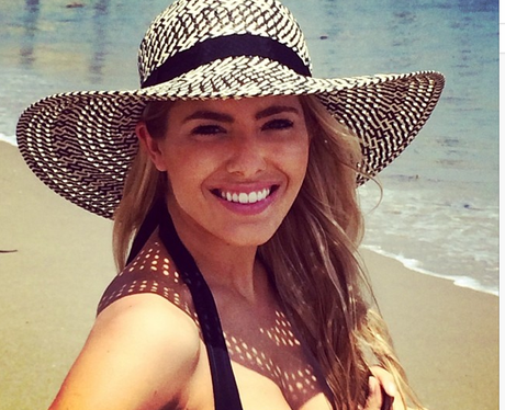 Mollie King on holiday