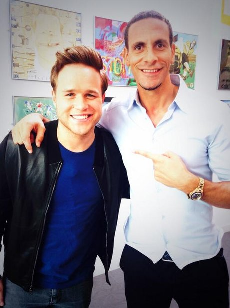 Olly Murs and Rio Ferdinand