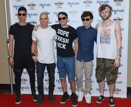 The Wanted arrive at the Hard Rock Hotel & Casino