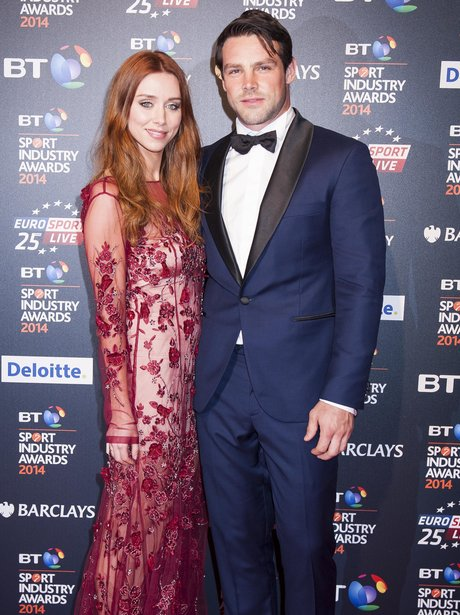 Una and Ben Foden at sports event