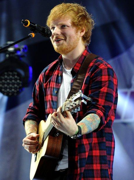 Ed Sheeran performs live in LA