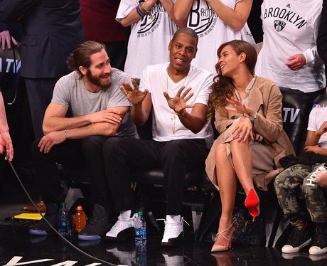 Jake Gyllenhaal with Jay-Z and Beyonce