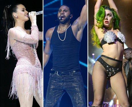 Katy Perry, Jason Derulo and Lady Gaga