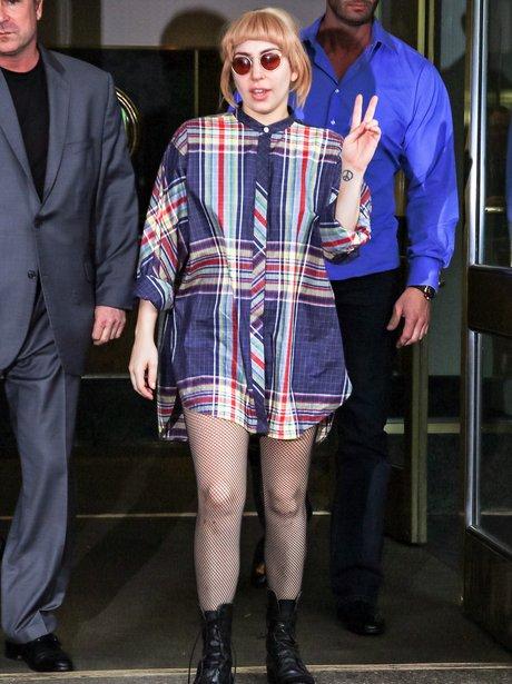 Lady Gaga wearing a shirt