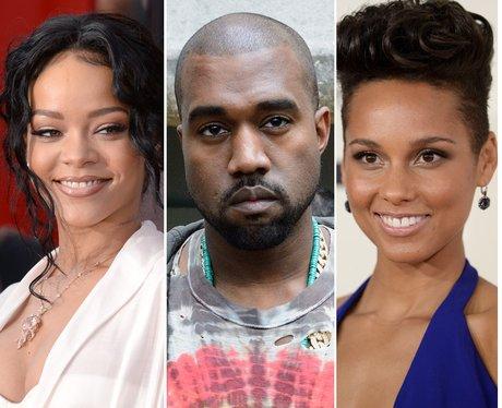 Rihanna, Kanye, Alicia keys