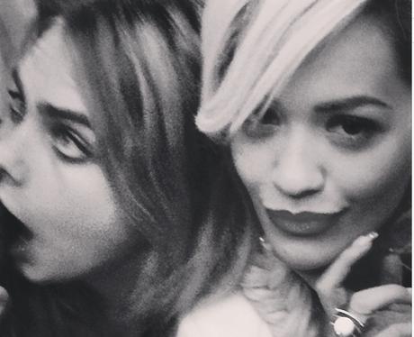 Rita Ora and Cara Delelevinge