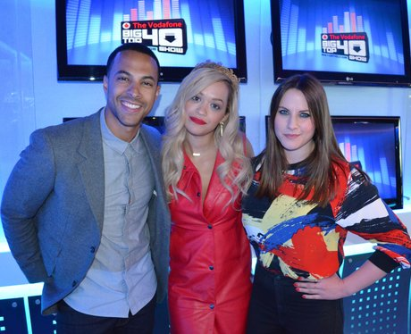 Rita Ora and Marvin Humes on Big Top 40
