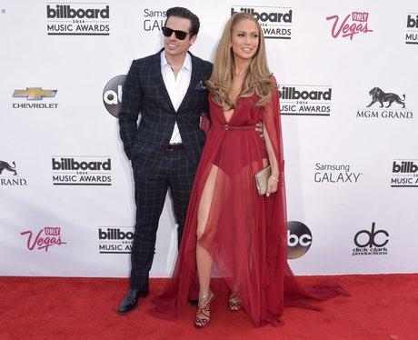 Casper Smart and Jennifer Lopez at the Billboard M