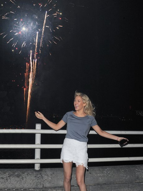 Ellie Goulding watching fireworks