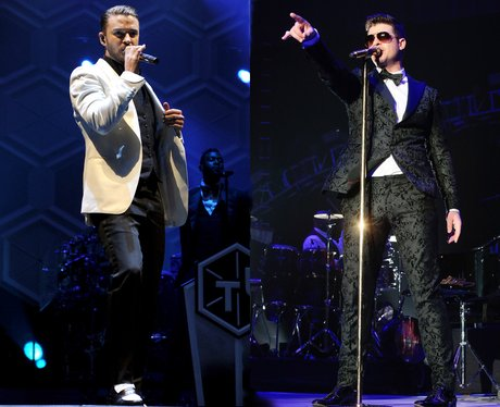 Justin Timberlake and Robin Thicke