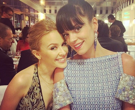 Lily Allen and Kylie Minogue in Cannes 2014