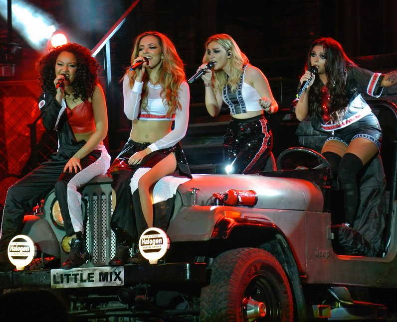 Little Mix Salute Tour A car on stage? Sure t...