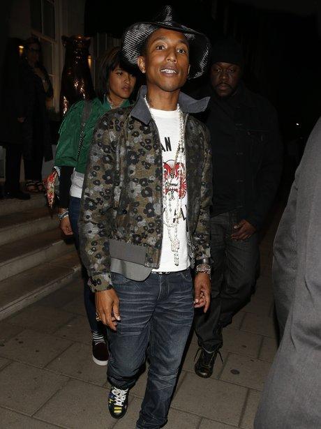Pharrell having dinner in London