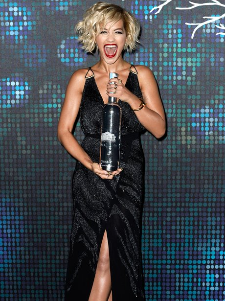 Rita Ora poses at a party at Cannes Film Festival 2014