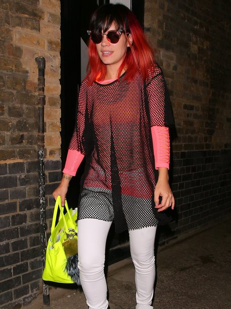 Lily Allen with red hair