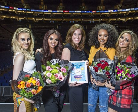 Little Mix presented with an award