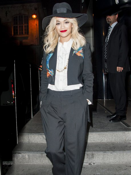 Rita Ora wearing a hat in Paris