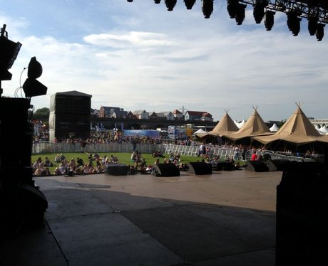 Backstage at Chester Rocks 2014