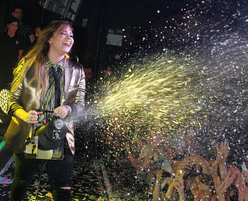 Demi Lovato performs on stage at G-A-Y Heaven