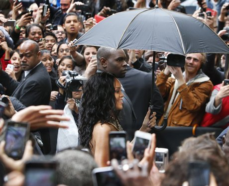 Rihanna mobbed at her Rogue Perfume Launch 2014
