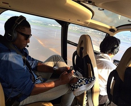 Tinie Tempah In A Helicopter