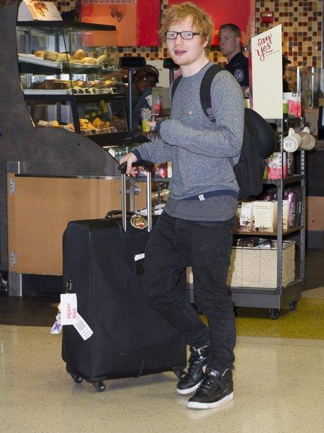 Ed Sheeran at the airport