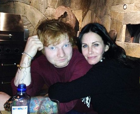 Ed Sheeran and Courteney Cox