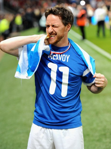 James McAvoy at Soccer Aid 2014
