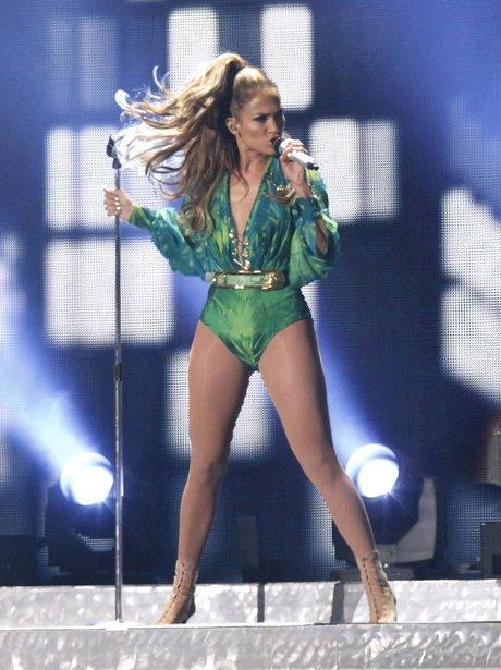 Jennifer Lopez performs live in New York