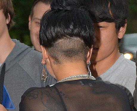 Lady Gaga shows off her head tattoo