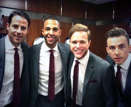 Marvin Humes, Olly Murs, Danny Jones and Jamie Red