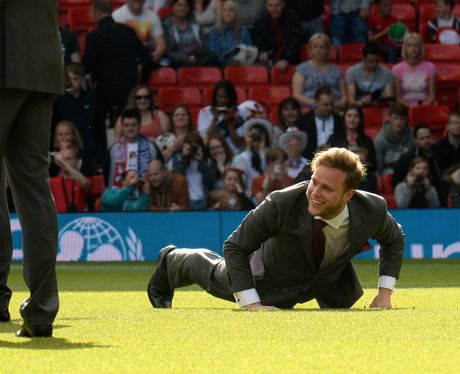 Olly Murs at Soccer Aid 2014