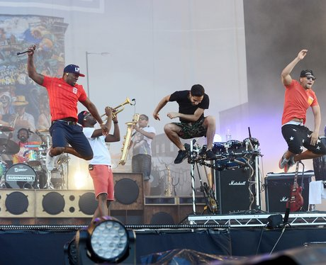 Rudimental live at the Isle Of Wight Festival 2014