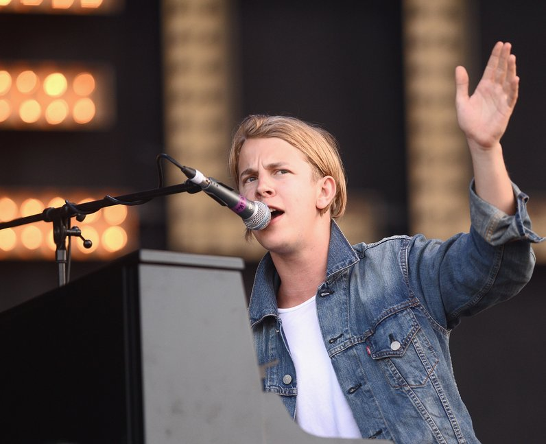 Tom Odell performs at the Isle Of Wight Festival 2