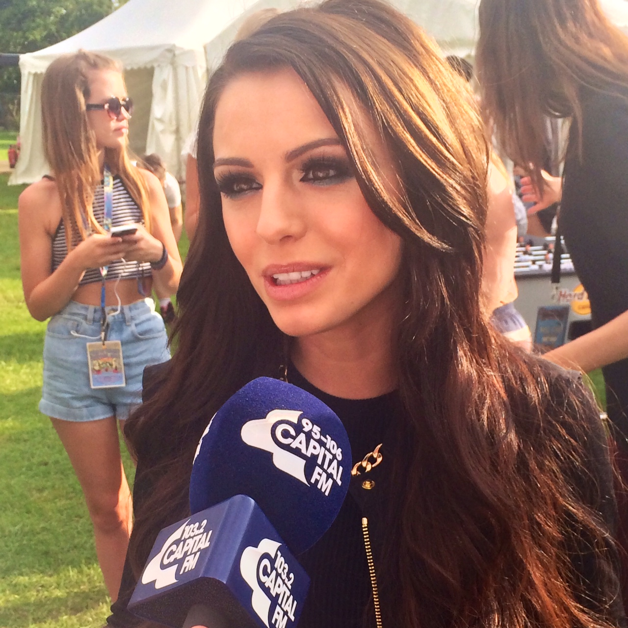 Cher Lloyd Backstage at Isle of Wight 2014