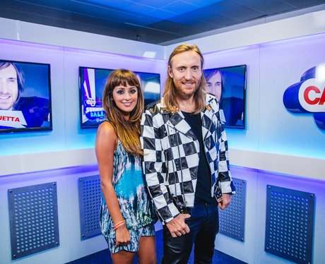 David Guetta and Max backstage at the Summertime B