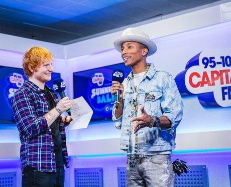 Ed Sheeran and Pharrell Williams