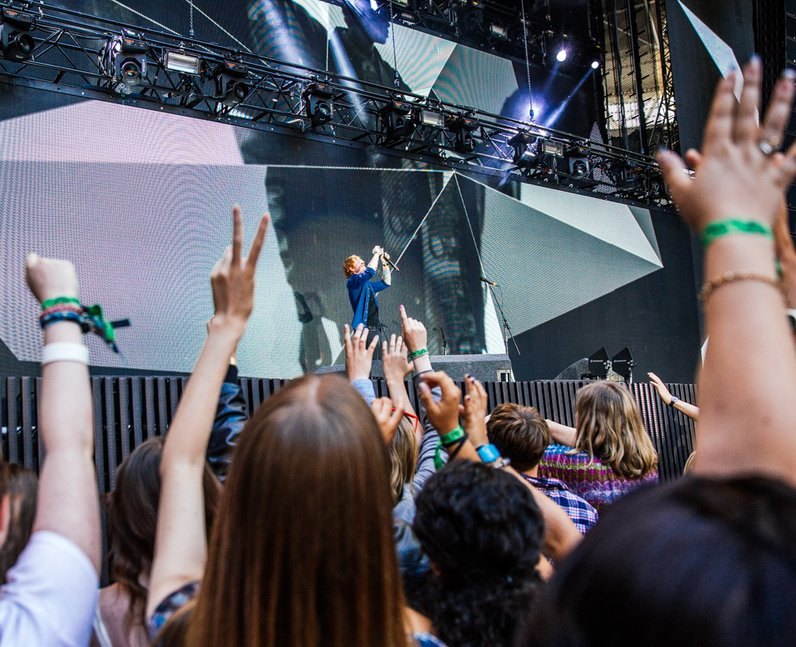 Ed Sheeran live at the Summertime Ball 2014
