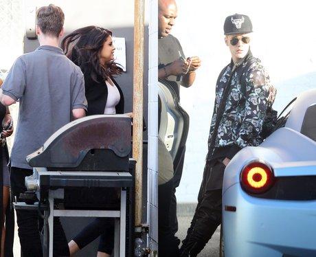 Justin Bieber and Selena Studio
