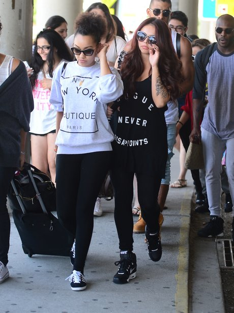 Little Mix arrive in New York