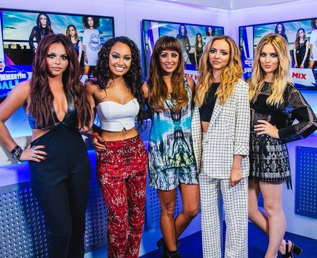 Little Mix backstage at the Summertime Ball 2014