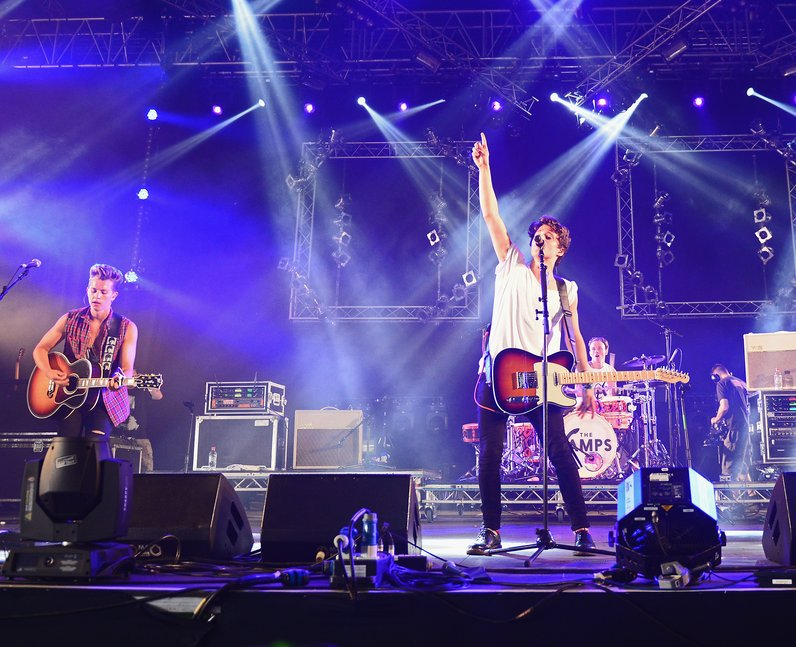 The Vamps live at the Isle of Wight festival