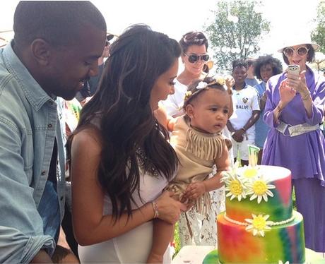Kanye West Kim Kardashian North West birthday Kidc