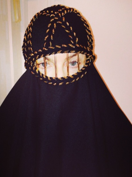 Madonna, burka, veil, instagram