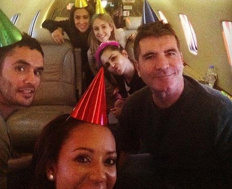 Cheryl Cole and Simon Cowell Birthday