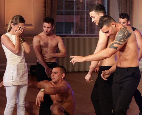 Cheryl Cole gets a striptease at x factor