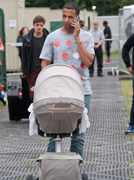 Marvin Humes and daughter Alaia-Mai